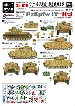 画像1: STAR DECALS[SD35-919] 1/35 武装親衛隊第12装甲師団のIV号H型&J型 デカールセット