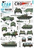 STAR DECALS[SD35-C1126]1/35 ボスニア紛争のAFV #4 クロアチア人勢力のM-84,T-34,M-18 etc.
