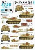 STAR DECALS[SD35-C1132]1/35 WWII独 第507重戦車大隊 東部戦線のティーガーI後期型