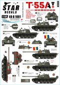 STAR DECALS[SD48-B1001]1/48 現代 露/ソ 冷戦時代のT-55A ソビエト及びワルシャワ機構