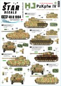 STAR DECALS[SD48-B1004]1/48 WWII 独 ドイツ武装親衛隊第12装甲師団「ヒトラーユーゲント」所属のIV号戦車H型&J型 1944年
