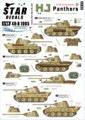 STAR DECALS[SD48-B1005]1/48 WWII 独 ドイツ武装親衛隊第12装甲師団「ヒトラーユーゲント」所属のパンター戦車 フランス1944年
