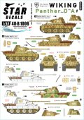 STAR DECALS[SD48-B1006]1/48 独 ヴァーキング師団#1 SS第5装甲師団第5装甲連隊のパンサーD/A型1944