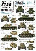STAR DECALS[SD48-B1009]1/48 WWII 第二次大戦のフィンランド#1 KV-1E/ISU-152重戦車