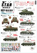 STAR DECALS[SD48-B1014]1/48 WWII 露/ソ T-34-76戦車 ソビエト赤軍が運用したT-34 1943年型 1943〜44