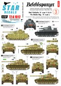 STAR DECALS[SD72-A1012]1/72 WWII独 指揮戦車 #4 IV号F/G/H型,砲兵観測車J型 デカールセット