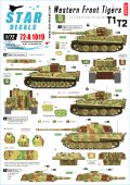 STAR DECALS[SD72-A1019]1/72 西部戦線のティーガー#1 SS第101/501重戦車大隊 第1中隊