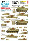 STAR DECALS[SD72-A1022]1/72 WWII 独 イタリア戦線のドイツ戦車#2 タイガーI初期型 タイガーI中期型 タイガーI後期型