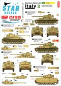STAR DECALS[SD72-A1023]1/72 WWII 独 イタリア戦線のドイツ戦車#3 IV号戦車G型とH型