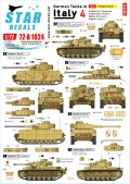 STAR DECALS[SD72-A1024]1/72 WWII 独 イタリア戦線のドイツ戦車#4 III号戦車火炎放射型 III号戦車G/J型 IV号戦車H型