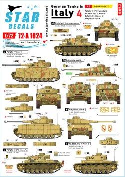 画像1: STAR DECALS[SD72-A1024]1/72 WWII 独 イタリア戦線のドイツ戦車#4 III号戦車火炎放射型 III号戦車G/J型 IV号戦車H型
