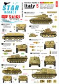 STAR DECALS[SD72-A1025]1/72 WWII 独 イタリア戦線のドイツ戦車#5 カッシーノの戦い1944年