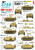 STAR DECALS[SD72-A1026]1/72 WWII 独 イタリア戦線のドイツ戦車#6 III号突撃砲F/8型 III号突撃砲G型 IV号突撃砲(IV号戦車J型車体)