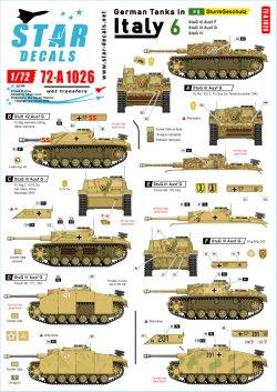 画像1: STAR DECALS[SD72-A1026]1/72 WWII 独 イタリア戦線のドイツ戦車#6 III号突撃砲F/8型 III号突撃砲G型 IV号突撃砲(IV号戦車J型車体)