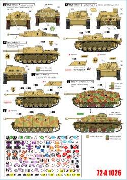 画像2: STAR DECALS[SD72-A1026]1/72 WWII 独 イタリア戦線のドイツ戦車#6 III号突撃砲F/8型 III号突撃砲G型 IV号突撃砲(IV号戦車J型車体)