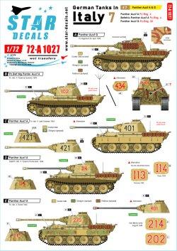 画像1: STAR DECALS[SD72-A1027]1/72 WWII 独 イタリア戦線のドイツ戦車#7 パンターA型及びパンターG型