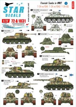 画像1: STAR DECALS[SD72-A1031]1/72 WWIIのフィンランド戦車#3