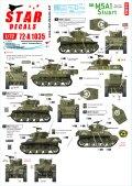 STAR DECALS[SD72-A1035]1/72 WWII 米 M5A1スチュアートD-デイ75周年スペシャル フランス ノルマンディー1944年