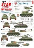 STAR DECALS[SD72-A1037]1/72 現用 バルカン半島 クロアチア陸軍#1 祖国戦争でのT-34/85戦車