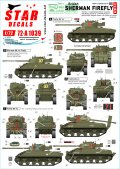 STAR DECALS[SD72-A1039]1/72 WWII 英 英国陸軍 Dディ75周年記念スペシャル シャーマンフライMkIc/MkVc