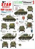 STAR DECALS[SD72-A1041]1/72 WWII 英国陸軍所属のシャーマン D-ディ75周年スペシャル シャーマンMkI/II/III/Iハイブリッド