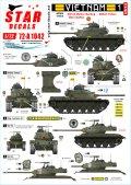 STAR DECALS[SD72-A1042]1/72 ARVN#1 南ベトナム陸軍所属の米製戦車 M24/M41/M48A3