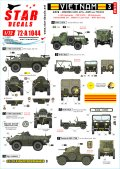 STAR DECALS[SD72-A1044]1/72 ARVN#3 南ベトナム陸軍所属のAFV V-100/M8他