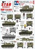 STAR DECALS[SD72-A1045]1/72 WWII 英 英国王立砲兵隊♯1 Dディ75周年記念スペシャル セクストン プリースト ウルヴァリン アキレス