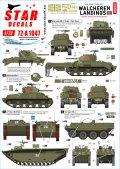 STAR DECALS[SD72-A1047]1/72 WWII 英 ワルヘレンに於けるイギリス軍戦車と水陸両用車 オランダ1944〜45