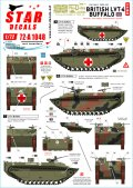 STAR DECALS[SD72-A1048]1/72 WWII 英 英国陸軍 LVT-4バッファロー オランダ1944〜45