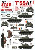 STAR DECALS[SD72-A1049]1/72 現代 露/ソ 冷戦時代のT-55A ソビエト及びワルシャワ機構