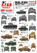 STAR DECALS[SD72-A1051]1/72 WWII バルカン半島WWII#1 第二次世界大戦のクロアチア ウスタシャ民兵組織所属の戦車