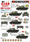 STAR DECALS[SD72-A1054]1/72 現用 ベトナム戦争 ベトナム#4 NVA(北ベトナム正規軍)所属のT-54戦車マーキング集