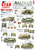 STAR DECALS[SD72-A1064]1/72 WWII 豪/新 ANZAC#1 オーストラリア/ニュージーランド合同軍がアフリカと中東で運用したAFVパート1