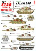 STAR DECALS[SD72-A1067]1/72 WWII 独 第509重戦車大隊のタイガーI/タイガーII 東部戦線1943〜45