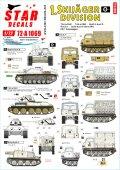 STAR DECALS[SD72-A1069]1/72 WWII 独 第1スキー猟兵師団 T-34m/41 T-34m/43 III号突撃砲G型/RSO1/グリーレH型/キューベルワーゲン
