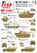 STAR DECALS[SD72-A1071]1/72 WWII 独 ヴァーキング#2 第5SS装甲師団所属のパンターD/A型とSd.Kfz.251D型ハーフトラック