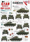 STAR DECALS[SD72-A1074]1/72 WWII 英 第二次世界大戦末期と冷戦時代初期のA34コメット