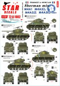 STAR DECALS[SD72-A1082]1/72 WWII 仏 フレンチシャーマンミックス M4A1/A3/105mm/M4A3 76mm/M4A3E2ジャンボ