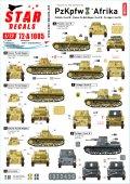 STAR DECALS[SD72-A1085]1/72 WWII 独 パンツァーインデザート#2 北アフリカでのI号戦車B型およびI号無線指揮戦車/I号対戦車自走砲