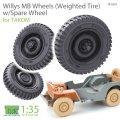 T-Rex Studio[TR35055]1/35 ウィリスMB用自重変形タイヤセット/スペアタイヤ付 タコム用