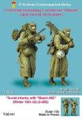 TANK[T-35141]1/35 WWII露 歩兵 /w マキシム機銃(冬)1941-45(2体)
