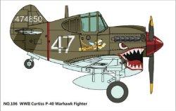 画像2: タイガーモデル[TM-106]キュート WWII米 ウォーホーク