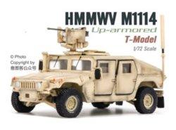画像1: T-MODEL[TMOCH7205]完成品・1/72 US HMMWV M1114 HA w/ CROWS (サンドイエロー)