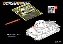 画像5: VoyagerModel [PE35766]WWII French SOMUA S35 Medium Tank Basic(For TAMIYA35344)