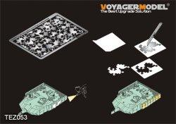 画像1: VoyagerModel [TEZ053]1/35 現用 中国人民開放軍 装甲車用デジタル迷彩マスキングステンシル1