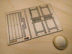 画像2: YENMODELS[LSG-A35004]1/35 木板テーブルと架台セット(木板×1 架台×2)