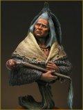 Young Miniatures[YH1821]1/10  ブラックフット族 カラスの頭飾りを身に付けた男