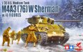アスカモデル[35-048] 1/35 M4A3(76) Wシャーマン フィギュア4体付