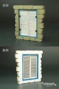 コバアニ模型工房[FS-019]1/35ヨーロッパの家の窓B(ルーバータイプ)